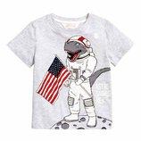 Футболка, размер 4-6 лет, cotton, детская футболка ,H&M.