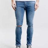 S-M, поб 46-48, узкачи рваные джинсы скинни Topman