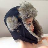 Зимняя шапка H&M 6-10 лет. Ог 52-55см. Шапочка ушанка мех.