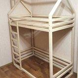 Двухъярусная кровать-домик Домовенок