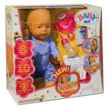 Кукла пупс 43см интерактивный Baby Doll аналог Baby born 8 функций 058-10