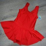Roch Valley,Англия Красный купальник спортивный с юбкой для гимнастики,для танцев 146-152 см