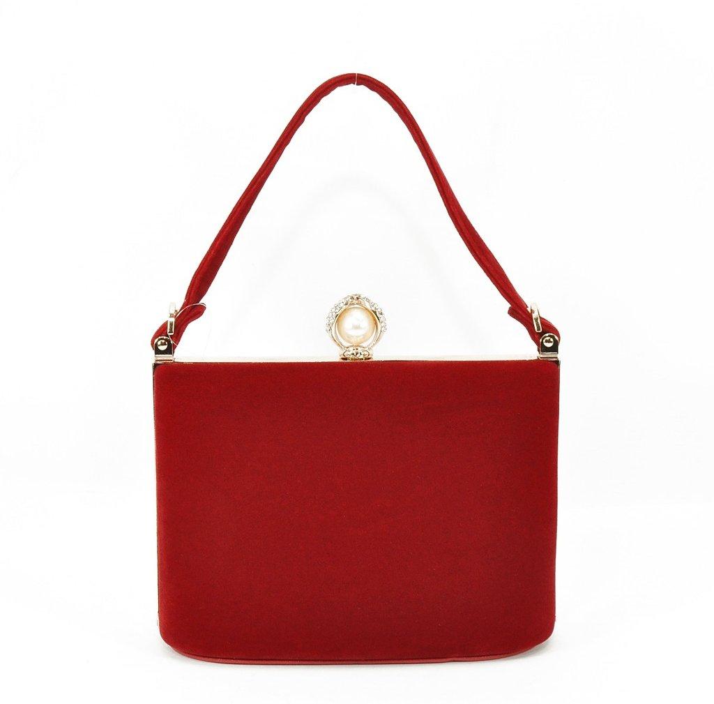 f91251fdf319 Клатч сумочка вечерняя женская велюровая красная Rose Heart 1661-4: 870 грн  - клатчи и маленькие сумки в Одессе, объявление №16126946 Клубок (ранее  Клумба)