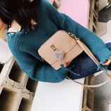 Элегантный красочные сумки с брелком помпоном