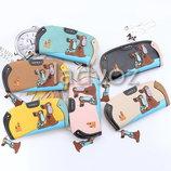 Модный женский кошелек клатч бумажник органайзер для карточек собачка собака 3754