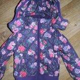 Красивая демисезонная куртка девочке H&M стеганая