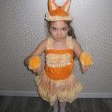 прокат карнавальный костюм лисички, лисичка, новогодние,на утренник