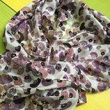 Нежнейший и шикарный большой шелковый шарф платок палантин -натуральный 100% шелк