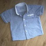 Шведка, рубашка Matalan на малыша 3-6 мес