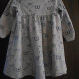Трикотажное платье M&S на малышку 12-18 месяцев в идеальном состоянии