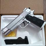 Детский игровой пневматический пистолет ZM 25 с пульками