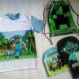 Футболка майнкрафт Minecraft трикотажная для мальчика
