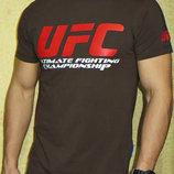 Футболка мужская UFC Валимарк коричневая.