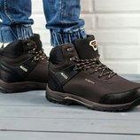 Коричневые мужские зимние ботинки Ecco Biom