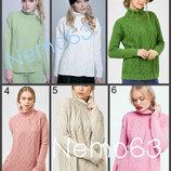 Красивый свитер вязаный теплый 42-48