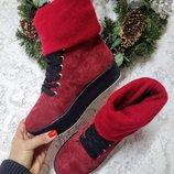 Распродажа Стильные теплые натуральные кожаные кеды ботинки Зимние и Демисезонные