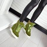 р.36-41 деми сникерсы ботинки кроссовки кросовки натуральная кожа/замша итальянская