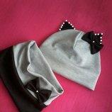 шапка з вушками і хомут. 0..10р.В асортименті