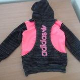 кофта свитер 110-116 см на замке спортивная детская Adidas девочке сапожки детские рр 27 оригинал