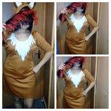 Карнавальное платье Лисы взрослое.