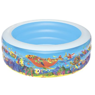 Детский круглый бассейн 195х53 см Подводный мир Bestway 51122