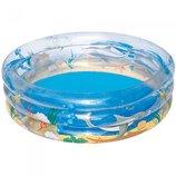 Детский круглый бассейн Морская жизнь , 150х53 см, 445 л
