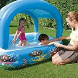 Детский бассейн с навесом от солнца, 147х147х122 см, 265 л