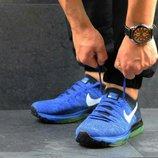 Синие мужские кроссовки Nike Air Zoom