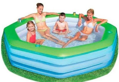 Детский надувной бассейн BestWay 54119, 251 х 251 х 51 см