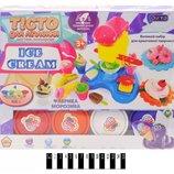 Набор для творчества Окто Тесто для лепки Фабрика мороженого с прессом 11016
