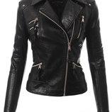 Куртка косуха женская с серебряними замками