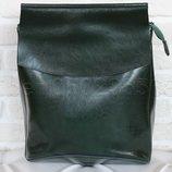 Городской кожаный стильный рюкзак - сумка
