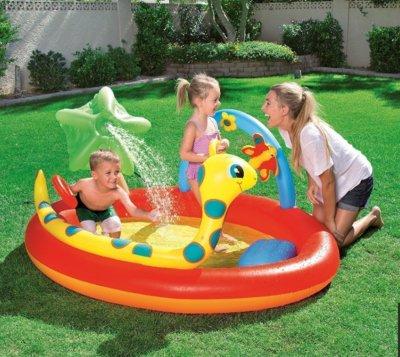 Детский игровой центр Bestway 53026 «Место развлечений», 192 х 150 х 88 см, с игрушками и фонтаном