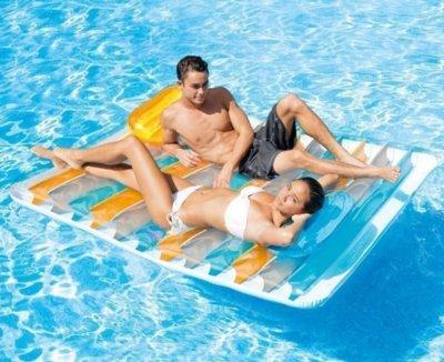 Пляжный надувной матрас Intex 56897, 198 х 160 см