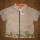 Тонкая хлопковая летняя рубашечка Ladybird на 1-2 года, сост. новой и др. вещи на рост до 92 см.