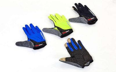 Велоперчатки текстильные с закрытыми пальцами Madbike SK-13 спортивные перчатки 3 цветов, S-L