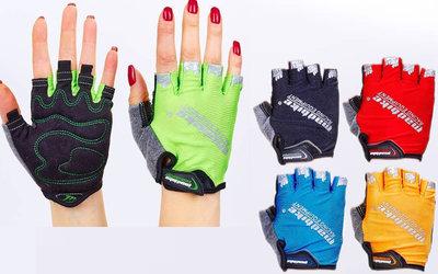 Велоперчатки текстильные Madbike SK-01 спортивные перчатки 5 цветов, S-L