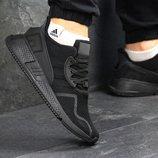 Кроссовки мужские сетка Adidas Equipment adv 91-17 black