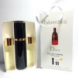 Туалетная вода Christian Dior Fahrenheit Absolute eau de toilette в подарочной упаковке 3х15ml
