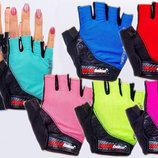 Велоперчатки текстильные Madbike SK-06 спортивные перчатки 6 цветов, S-L