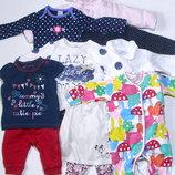 Пакет одежды с конвертом на весну для новорожденной девочки
