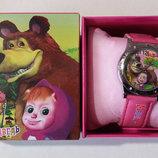 Красивые детские часы Маша и Медведь