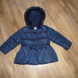 next Теплая куртка, пальто Некст на 1,5- 2 года подкладка флисовая