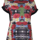 Блуза с ярким цветочным принтом Оригинал.yesmiss.италия.р.м,l
