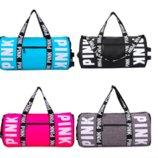 Спортивная сумка для фитнеса Victorias Secret черная,серая,розовая,бирюзовая