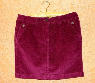 Теплая мини-юбка из микровельвета евро 36 Takko Fashion Германия
