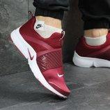 Кроссовки мужские Nike Air Presto burgundy