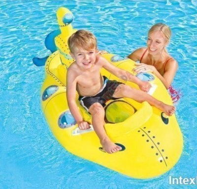 Детская надувная лодка-плотик для плавания Bestway 41098 «Субмарина», 165 х 76 см