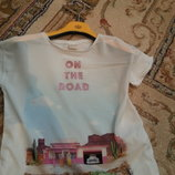 Очень стильная футболочка Zara Зара впереди шифон 116-122
