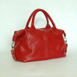 Стильная кожаная красная женская сумка, разные цвета